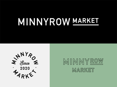 Main Street Minnesota Grocery Store wordmark logotype lockup shop small minnesota market main street local business grocery store logo identity flat design vector branding
