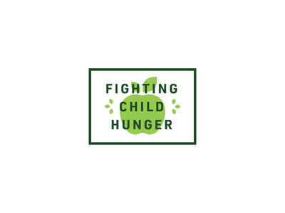Every Meal brand identity badge logotype child hunger non profit apple lockup logo identity flat vector design branding