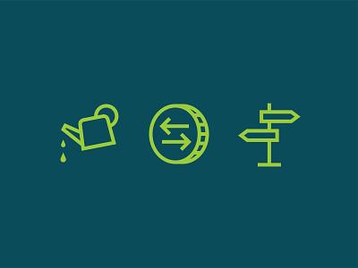 CFLI Icons logo finance icon illustration lockup identity flat vector design branding