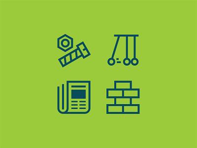 CFLI Icons leadership financial wellness finance illustration lockup logo flat identity vector design branding