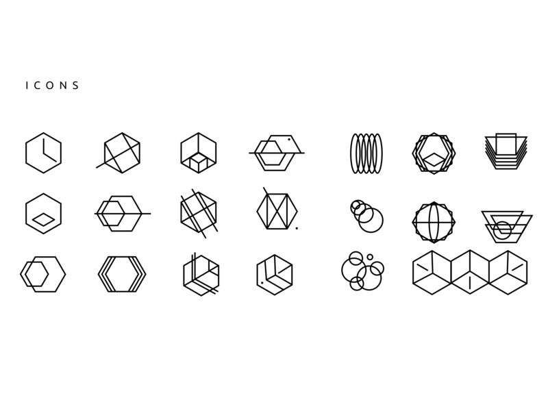 Abstract Icons By Lisa I On Dribbble