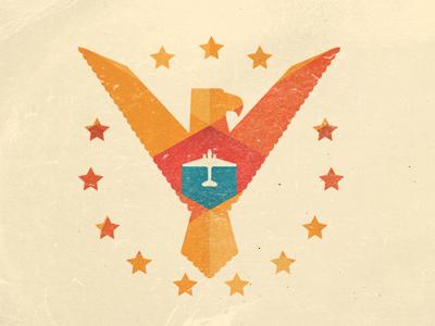 Small U.S. Aviation Illustration album cd music cover plane flight crash vintage 50s album art