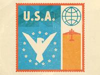 U.S.A Stamp