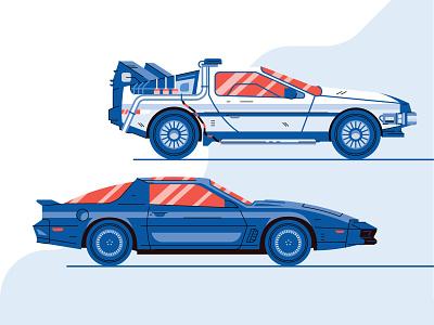 R&D Illustrations style design brand design brand future car delorean kitty illustration