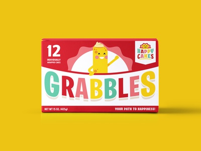 Grabbles Snack Cakes adobe twinkie snack bakery illustration product