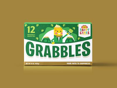 Grabbles St. Patrick's Day Snack Cakes die line product design adobe illustrator bakery cake twinkie adobe