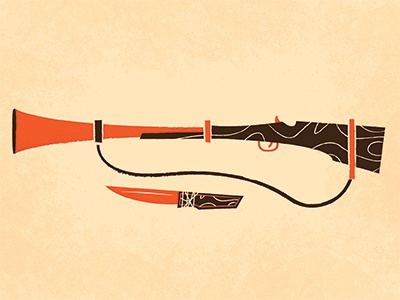 Camping Rifle & Knife gun rifle hunting camping essentials