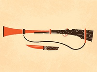 Camping Rifle & Knife