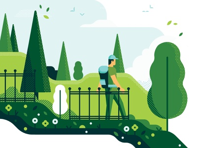 Amtec Brand Design PT 2 park hike design explore adventure illustration