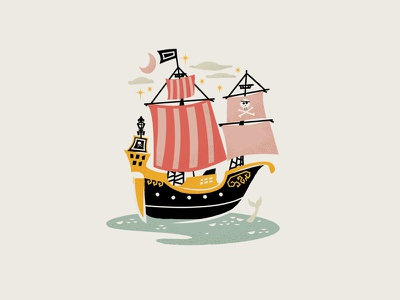 Jolly Roger Colored pirates ship mermaid moon hook disney peter peter pan pan