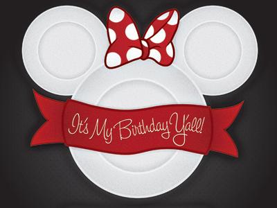 Minnie Mouse Birthday Invite illustration illustrator disney mini mouse red dots bow plates