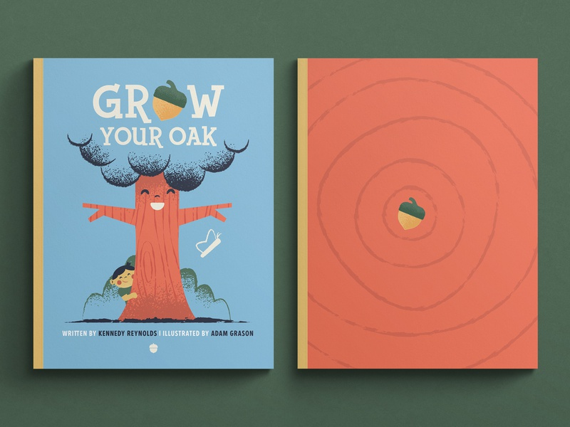 Grow Your Oak Children's Book kids design illustration childrens art childrens book illustration childrens book