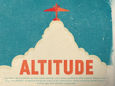 Altitude Ad album cd vintage airplane flight aviation
