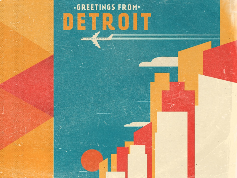 Greetings From Detroit album cd vintage airplane flight aviation
