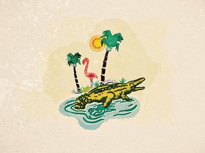 South Florida WIP florida miami south gator flamingo water everglades sun trees palm tree