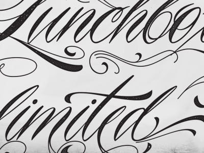 Typography Project logo branding apparell cursive tattoo
