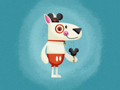 Bullseye Goes To Disney warmup illustration target disney mickey walt bullseye