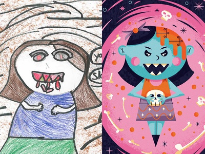 The Monster Project monster project kid child drawing sketch illustration