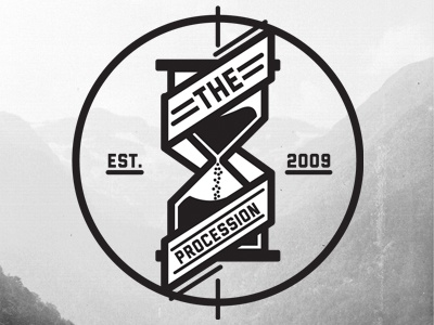 The Procession Logo logo branding apparell hourglass
