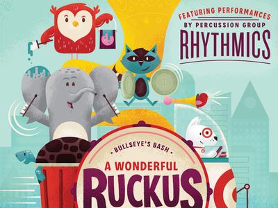 A Wonderful Ruckus target st judes elephant bullseye owl raccoon squirrel turtle