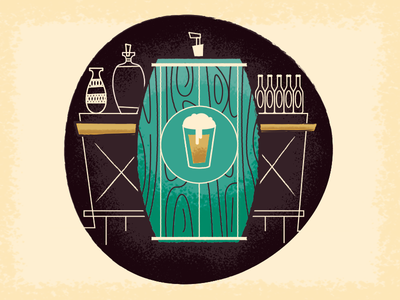 Grab A Pint illustration beer pint tap barrel drink up