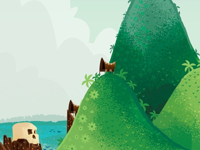Never Land Exploration island pirate ship hook peter pan pan peter disney illustration