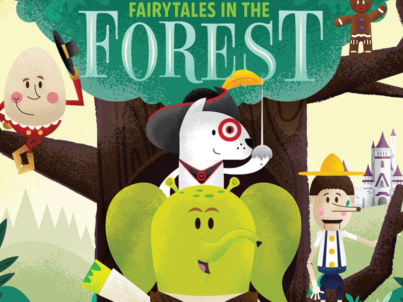 Fairytales In The Forest turtle squirrel raccoon owl bullseye elephant judes st target