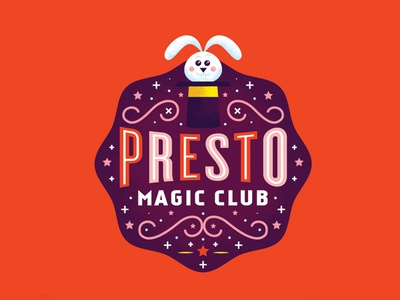 Presto Magic Club WIP presto magician illustration hat magic
