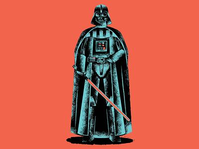 Darth Vader Update farth vader kylo ren atst darth vader painting design illustration boop beep r2-d2 starwars