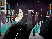Mystery Book Art - City Lights