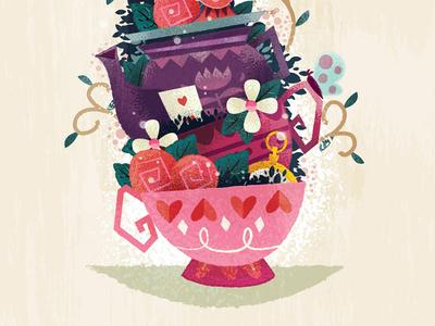 Un-Birthday Card alice in wonderland watch butterfly roses alice
