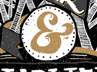 Golden Hand Drawn Ampersand
