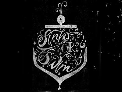 Sink or Swim Type 2 handdrawn type typography illustration