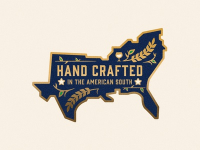 Southern Hand Crafted made in america usa south beer barrel lapel