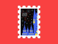 Main St. Post Office Stamp Collection 8|16