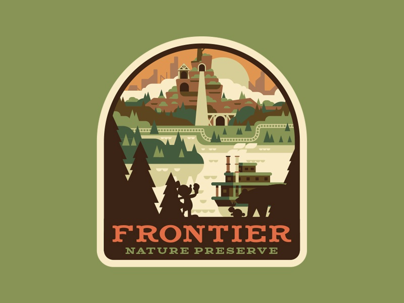 Frontier Nature Preserve badge mickey disney explore adventure patch