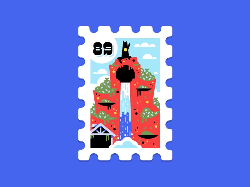 Main St. Post Office Stamp Collection 11|16 usps wilderness mountain frontier splash stamp