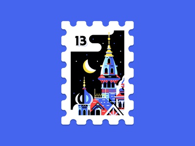 Main St. Post Office Stamp Collection 12 16 halloween haunted manor usps stamp disney castle stamps