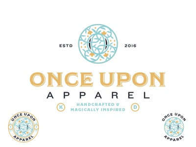 Once Upon Apparel fairytale branding logo