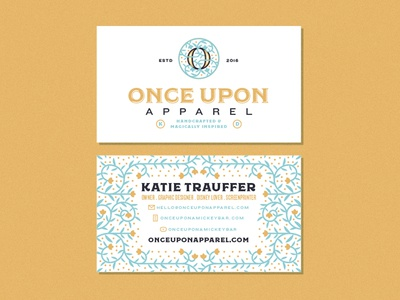 Once Upon Business Crads business cards fairytale branding logo