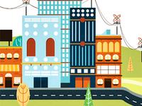 City Spot Illustration