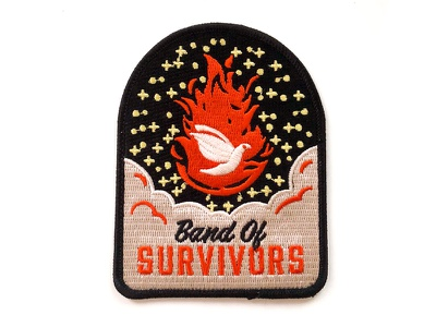 BOS Patch fire dove church adventure patch