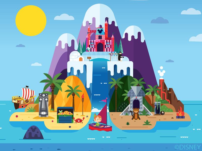 Disney Game Art castle small world art mobil game disney