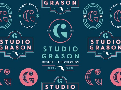 Studio Grason Re-Fresh florida g branding logo