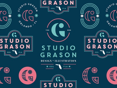Studio Grason Re-Fresh florida g branding logo