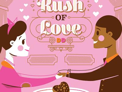 Sugar Rush Of Love - Dunkin' Donuts dunkin donuts doughnut coffee love valentines day