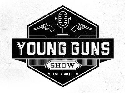 Young Guns Show 2 logo mark gun mic radio podcast