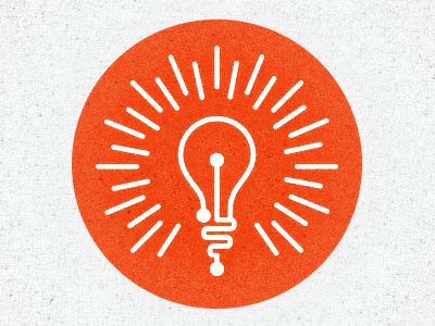 Tech Idea Icon/Logo light bulb ray wires teach light bulb growth