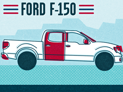 Ford F150 Illustration By Adam Grason On Dribbble