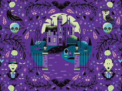 Haunted Mansion Extended blue illustrator disney illustration